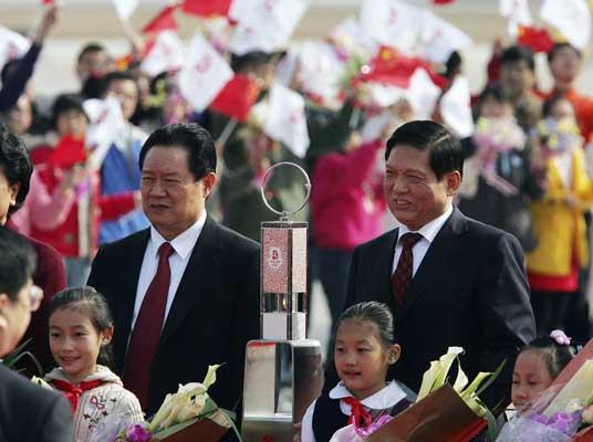 La llama olímpica llega a Pekín en medio de grandes medidas de seguridad
