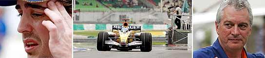 Alonso, Renault y Pat Symonds