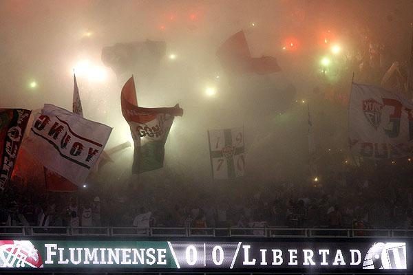 Gradas en partido de la copa Libertadores (3/4/2008)