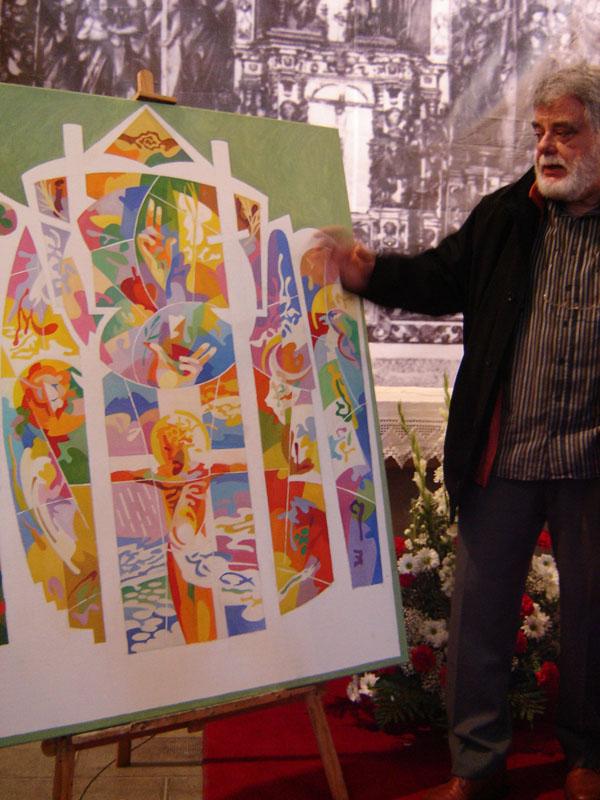 La iglesia de b scara estrena un nuevo retablo obra del - Trabajos de pintor en madrid ...