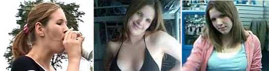 Tres de las imágenes de Cheryl Tunney que circulan por internet.