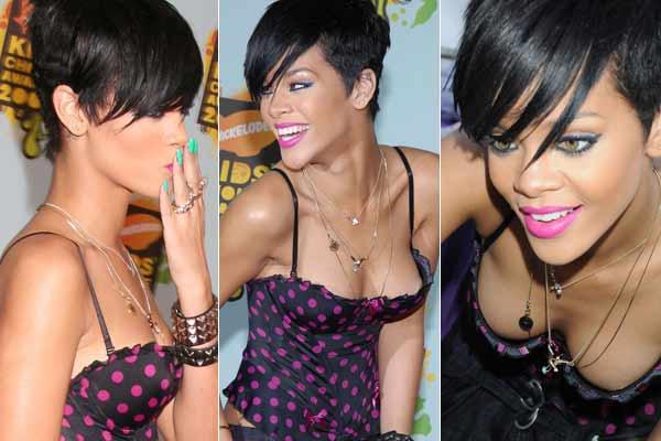 Rihanna y su peligroso escote