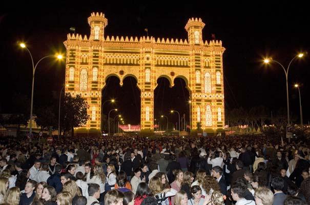 El alumbrado de 367.000 bombillas abre la Feria de abril