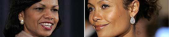 Condoleezza Rice y Thandie Newton.