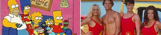 Los Simpsons y Los Vigilantes de la Playa