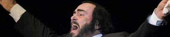 Pavarotti hizo 'play back' en los Juegos Olímpicos de invierno en Turín