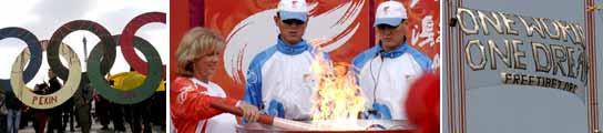 El fuego olímpico se ha convertido en los últimos días en un verdadero quebradero de cabeza. (EFE)