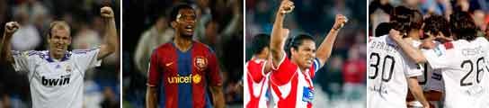 Robben, Eto'o, Acasiete y el Sevilla