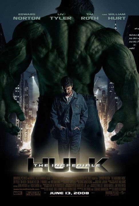 Cartel de 'El Increible Hulk'.