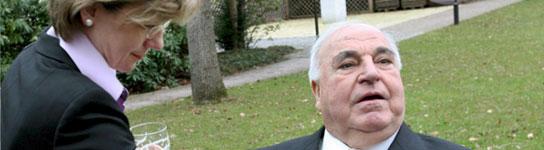 Helmut Kohl y Maike Richter