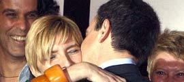 Zapatero besa a Sonsoles