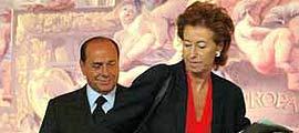 Berlusconi y su única ministra del anterior Gobierno