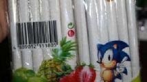 Sonic en los 'cigarrillos' para niños