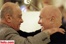 Tony Curtis y Mohamed Al Fayed.