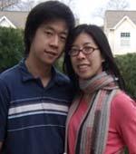 Bernie Peng y su novia