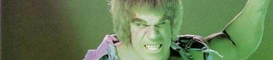 El actor Lou Ferrigno, caracterizado como Hulk.