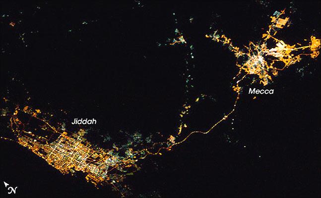 Ciudades de noche, La Meca