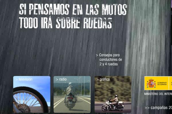 Campaña contra los accidentes de moto.