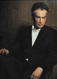 El retrato de Tony Blair. (AP).