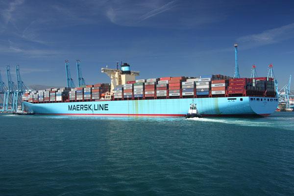 El buque portacontenedores m s grande del mundo hace escala en algeciras - Contenedores de barco ...