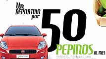 Campaña de Fiat: 'Un deportivo por 50 pepinos al mes'