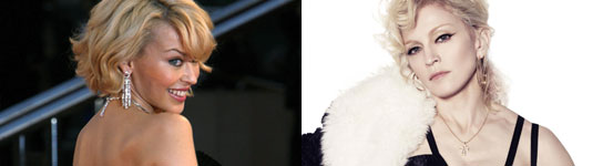 Kylie Minogue y Madonna