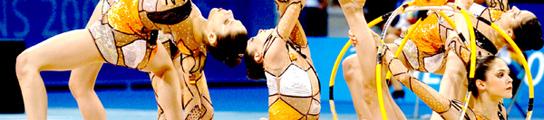 El equipo olímpico de gimnasia rítmica, en Ávila
