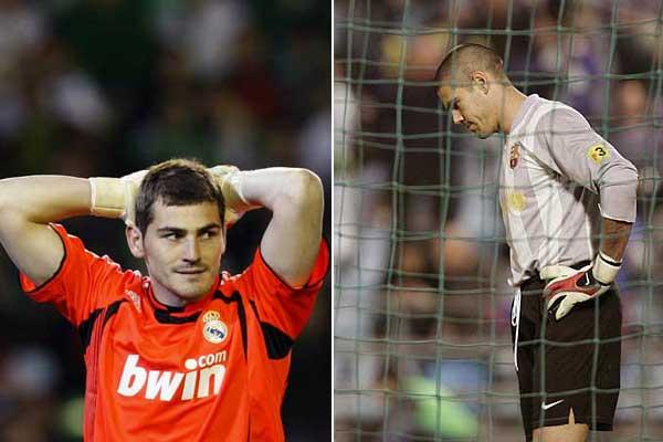 El portero del Real Madrid Iker Casillas consigue su primer