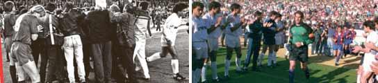 Los dos pasillos anteriores entre el Barcelona y el Real Madrid