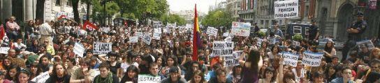 Los universitarios españoles vuelven a manifestarse contra el Plan de Bolonia