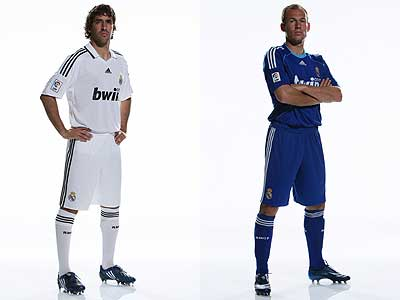Así son las nuevas equipaciones del Real Madrid para la temporada 2008 09 f1571872ce775