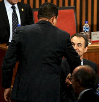 Zapatero, en la Cumbre de Lima.