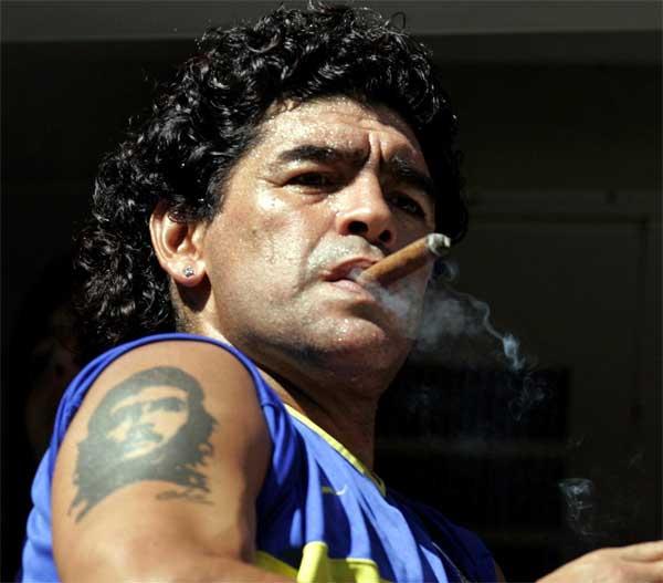 La leyenda del fútbol argentino, Diego Armando Maradona.
