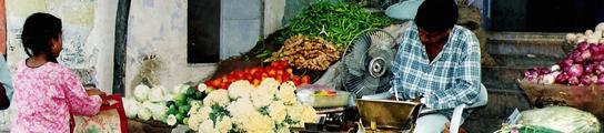 Mercado callejero en Jaisalmer, India.