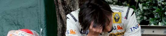 Nelsinho Piquet, abatido tras abandonar en Mónaco