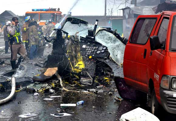 Accidente de helicóptero en Panamá