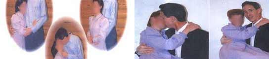 Fotografías del líder de la secta polígama besándose con menores