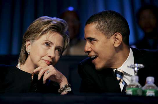 Clinton y Obama
