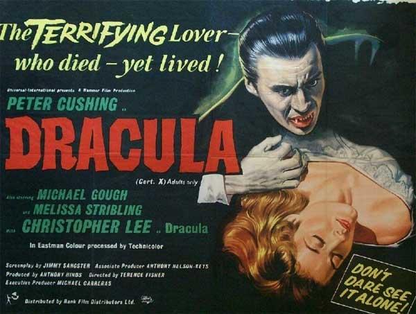 El 'Dracula' producido por la Hammer.