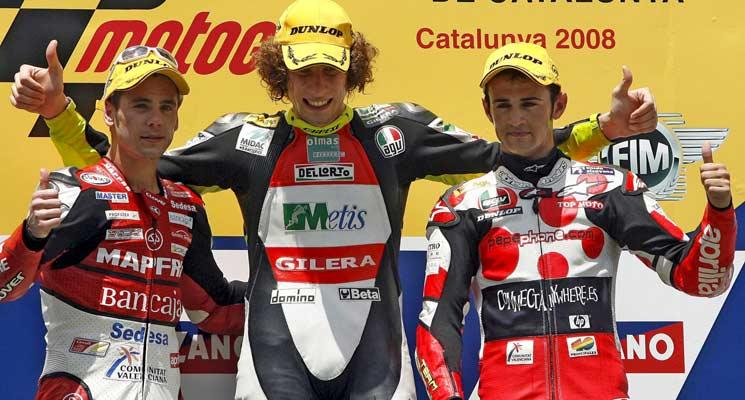 Podio del GP de Cataluña