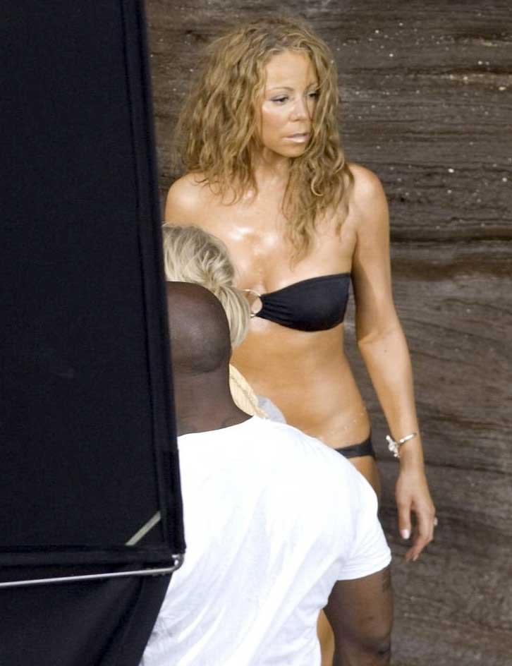 Mariah Carey Durante La Grabacion Del Videoclip Www Egotastic Com Www Egotastic Com