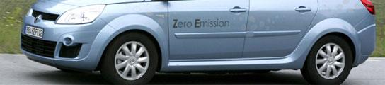 Renault Scénic propulsado por pila de combustible. Foto: RENAULT.