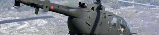 Un helicóptero del ejército.