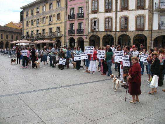 Manifestación a favor de un albergue en Avilés