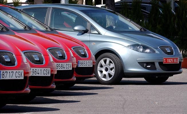 SEAT llamará Exo a su nueva berlina. En la imagen varios modelos Altea. Foto: ARCHIVO
