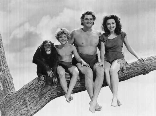 Chita y su cinematográfica familia adoptiva.