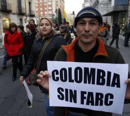 Manifestación contra las FARC