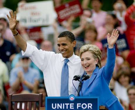 Obama y Clinton, unidos