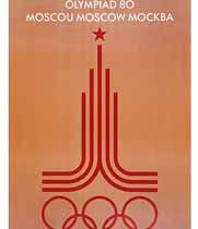 Cartel Moscú 1980
