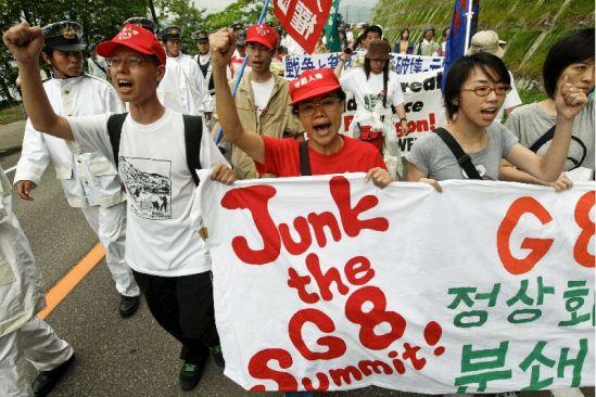 Protestas contra el G8